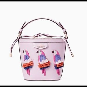 HP🎉Kate Spade♠️ PippaFlockParty Small Bucket Bag